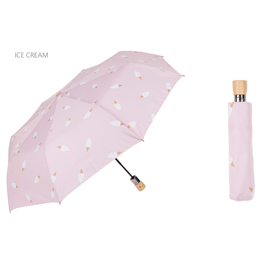 Ice cream - Life studio automatic foldable pattern umbrella