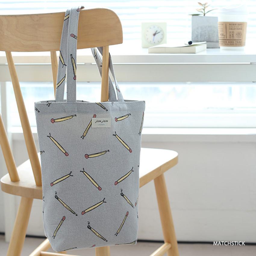 Matchstick - Jam Jam pattern small tote bag