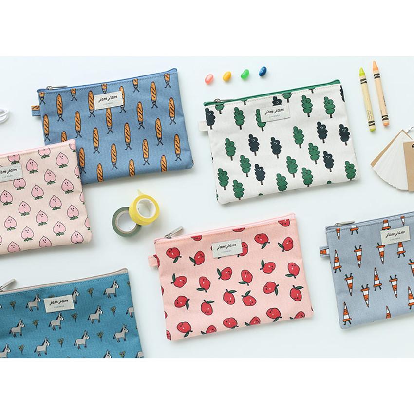 Jam Jam cute illustration pattern zipper pouch