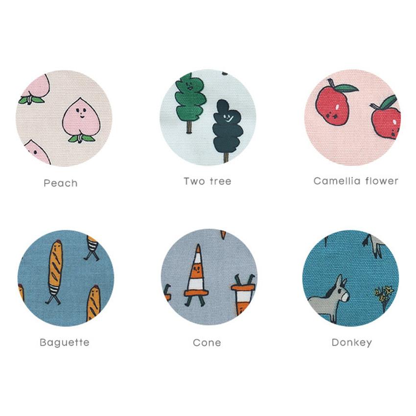 Option of Jam Jam cute illustration pattern zipper pouch