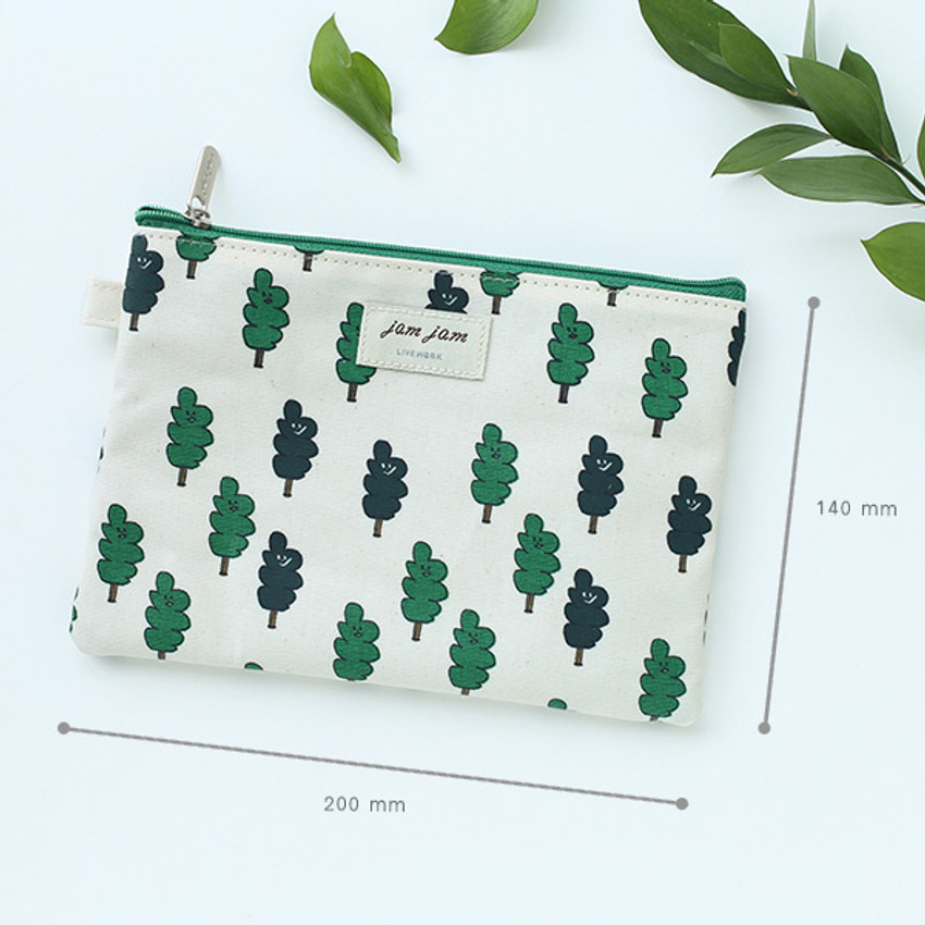 Size of Jam Jam cute illustration pattern zipper pouch