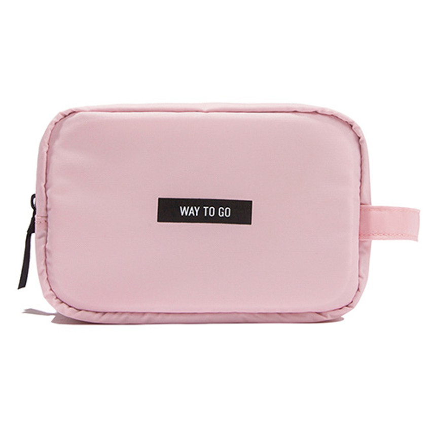Pink - Weekade daily makeup cosmetic pouch bag
