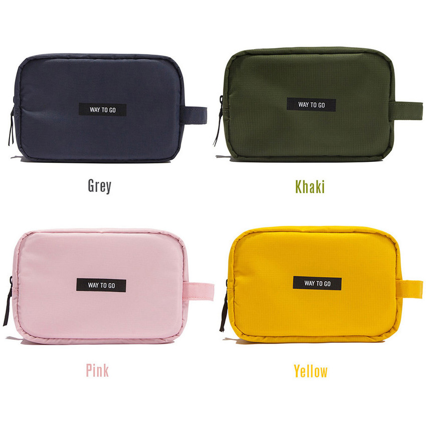 Colors of Weekade daily makeup cosmetic pouch bag