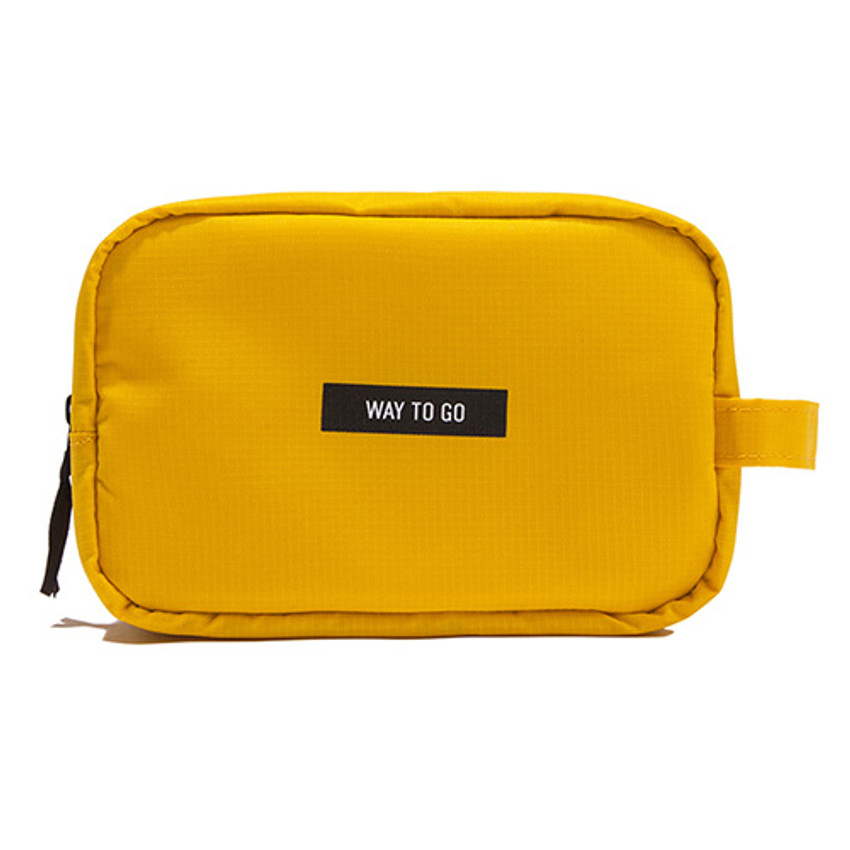 Yellow - Weekade daily makeup cosmetic pouch bag