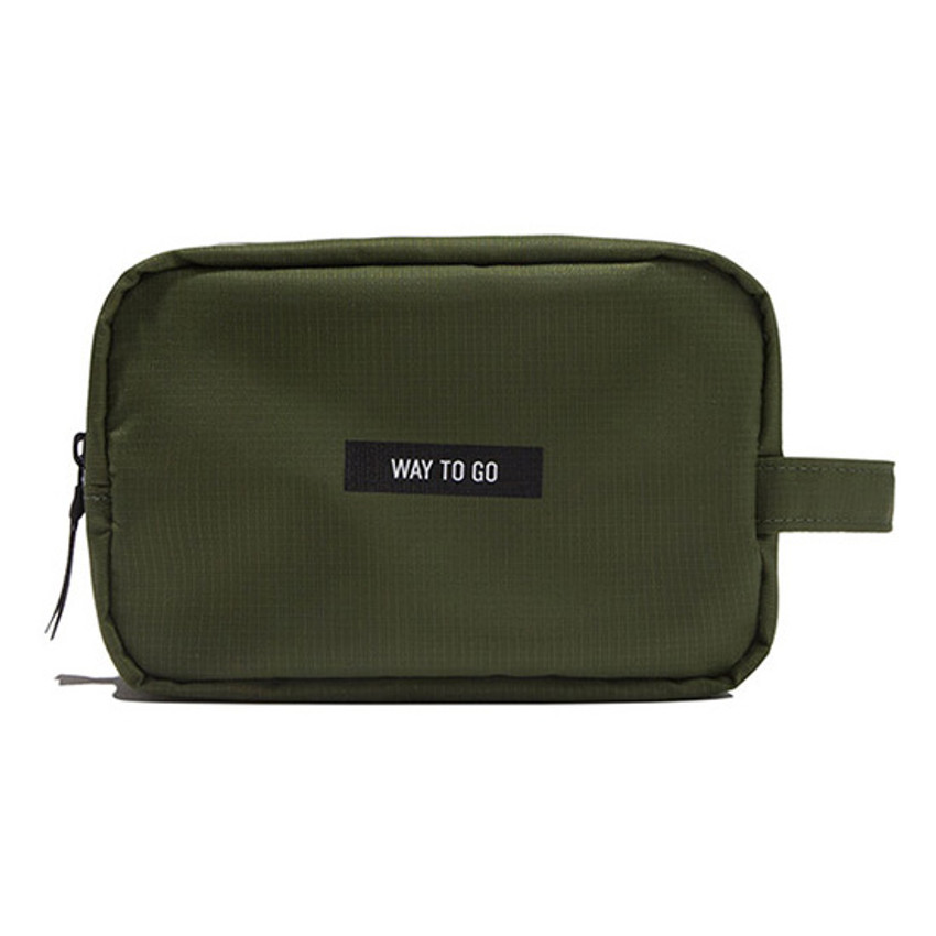 Khaki - Weekade daily makeup cosmetic pouch bag