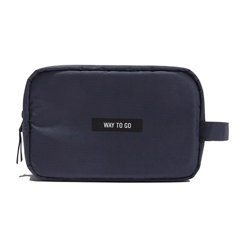Gray - Weekade daily makeup cosmetic pouch bag