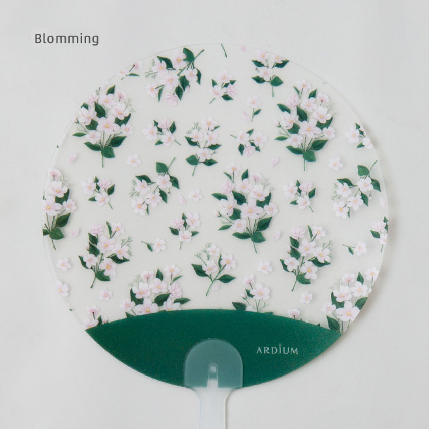 Blooming - Animal and flower pattern round hand fan