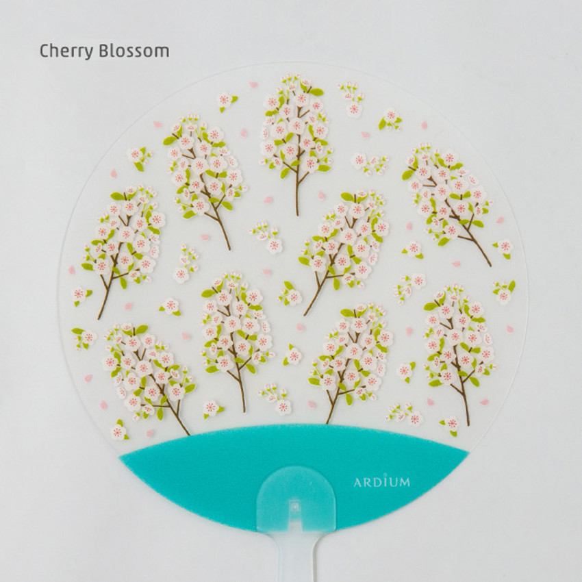 Cherry blossom - Animal and flower pattern round hand fan
