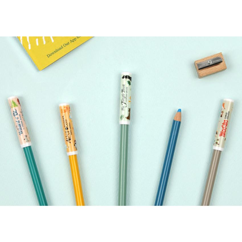 World literature pencil cap set