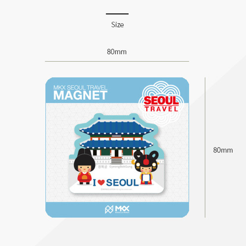 Size of Seoul Korea travel magnet