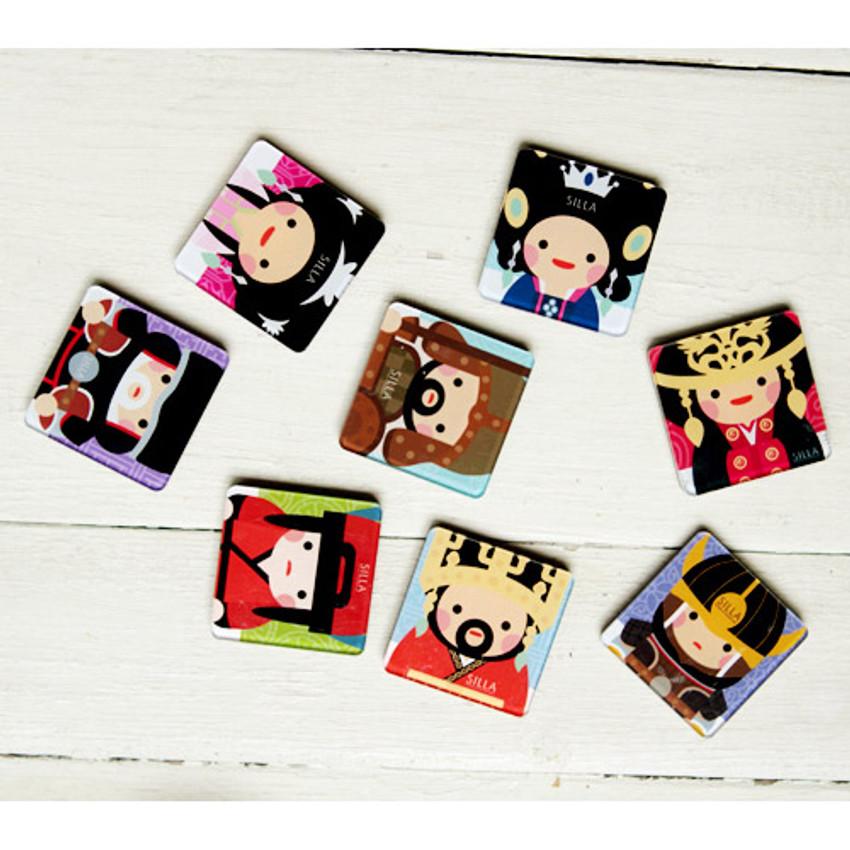 Korean traditional Joseon and Silla character magnet set