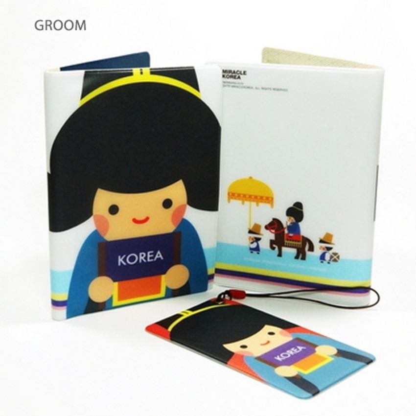 Groom - Korea traditional RFID blocking passport case