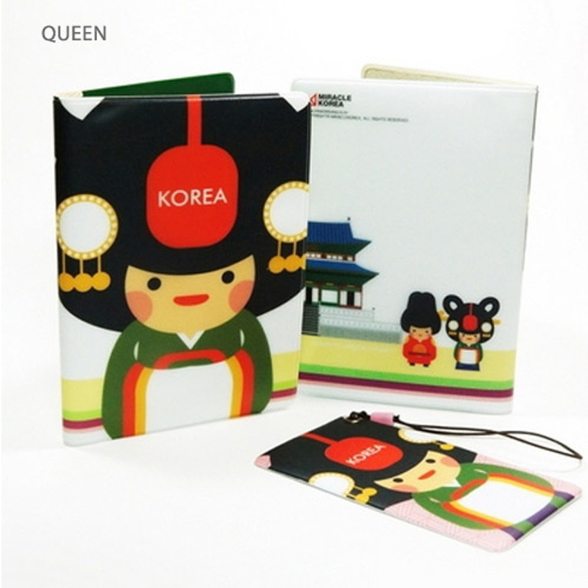 Queen - Korea traditional RFID blocking passport case