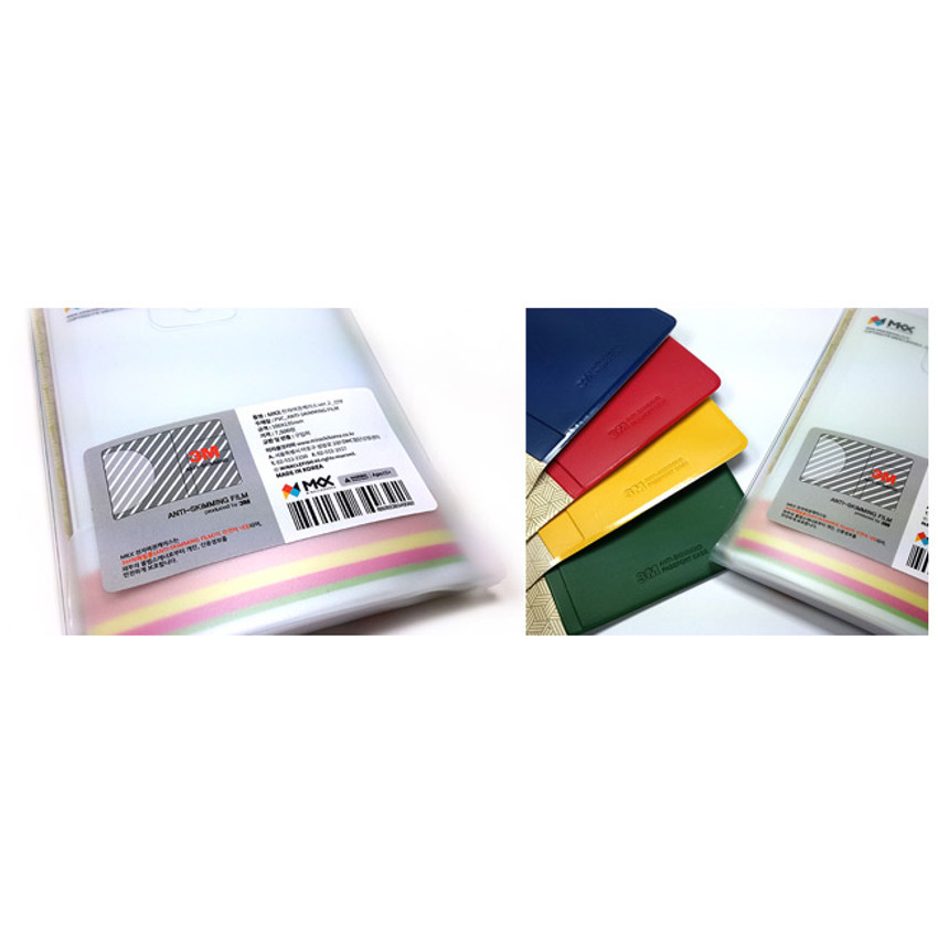 Detail of Korea traditional RFID blocking passport case