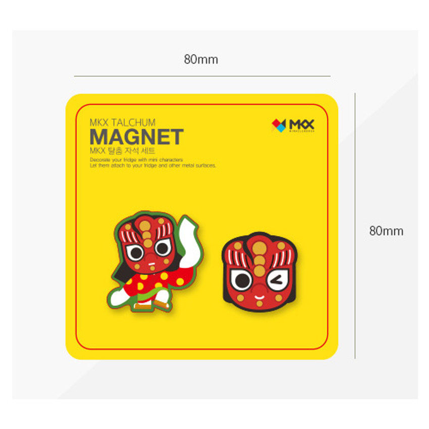 Size of Korean traditional talchum character magnet