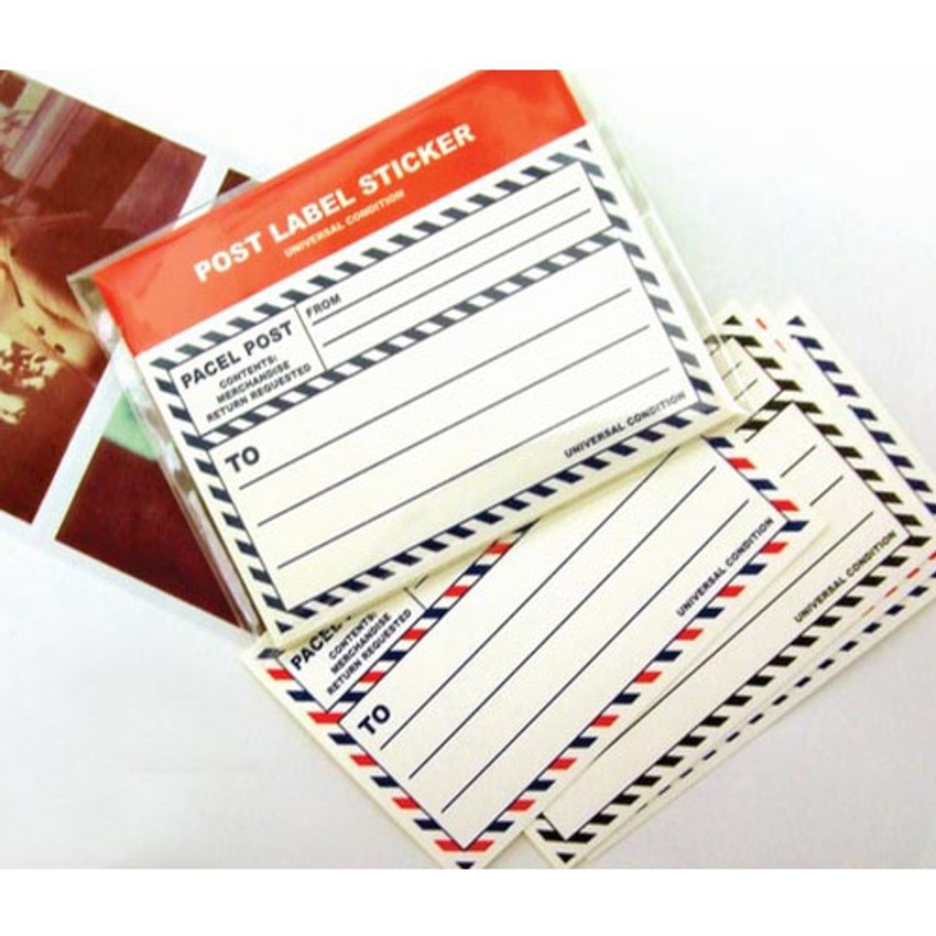Post 4 colors label sticker set