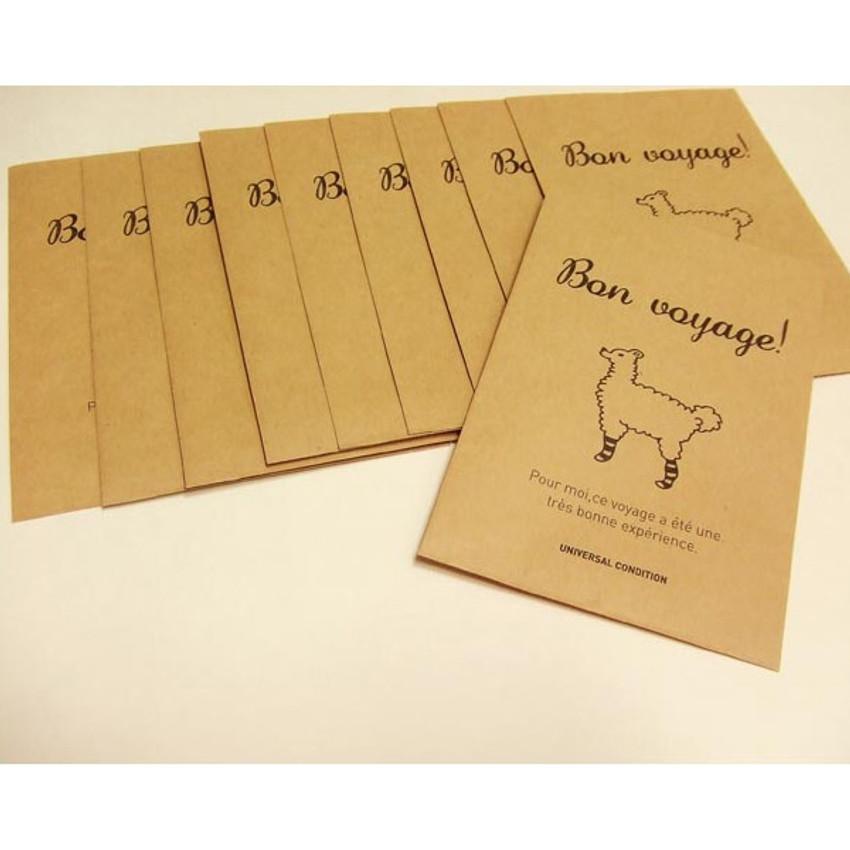 Set of 10 envelopes