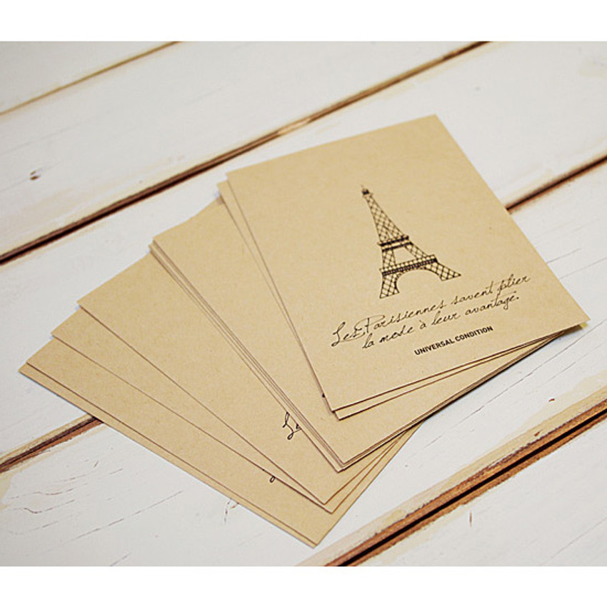 Eiffel tower postcard envelope set