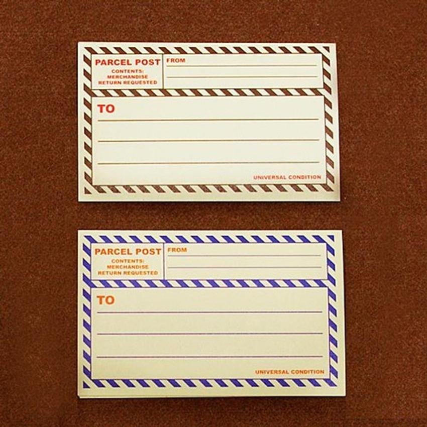 Post 2 colors large label sticker set