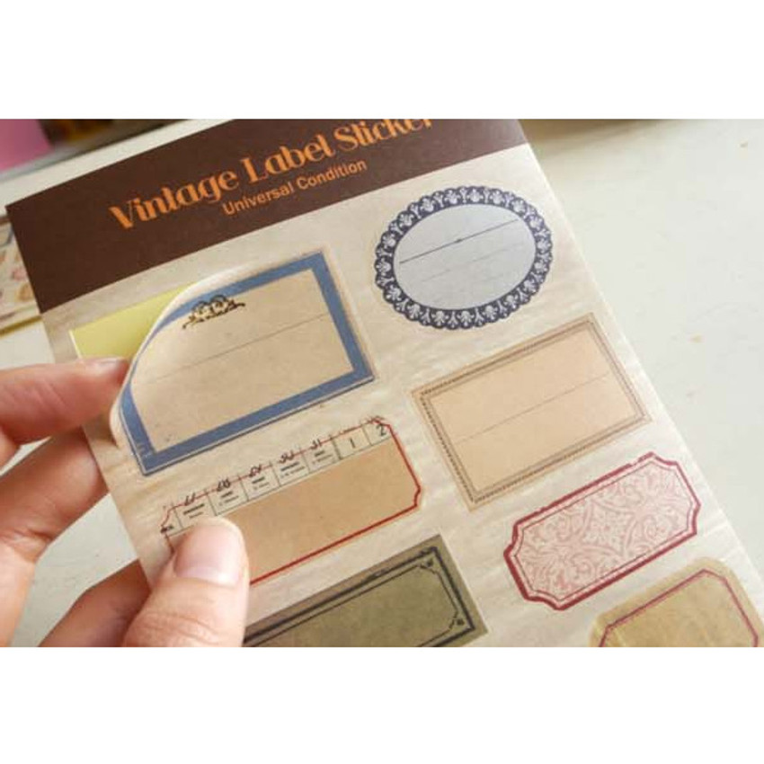 Detail of Vintage label deco sticker