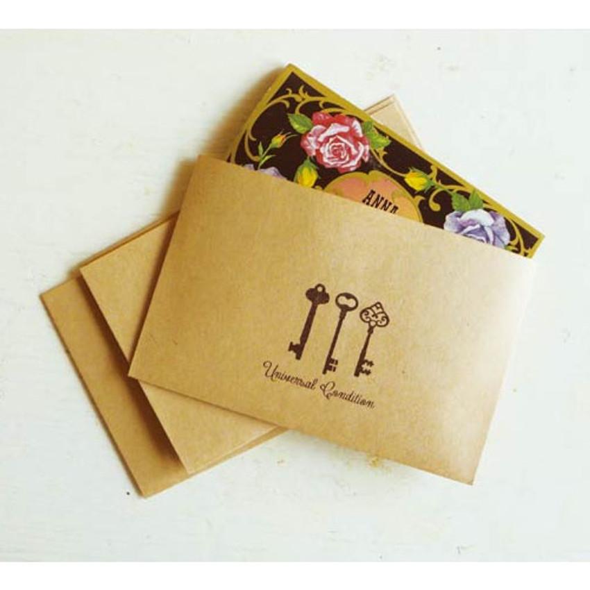 Antique keys small envelope set