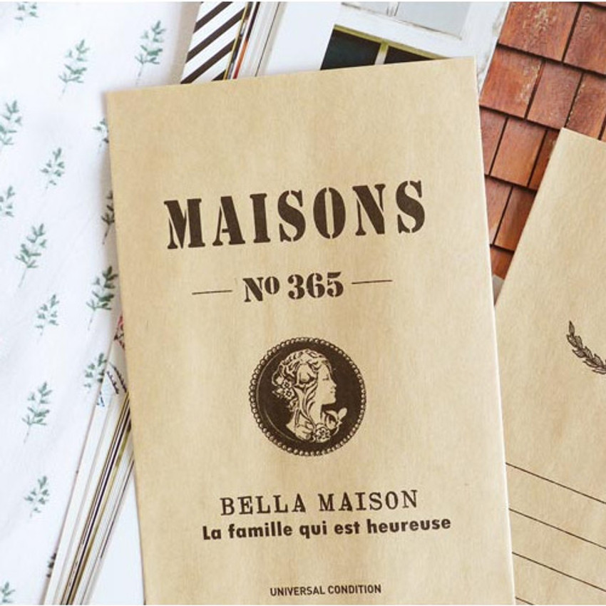 Bella maison postcard envelope set