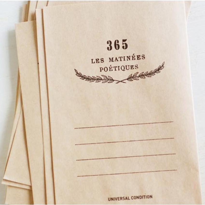 365 les matiness postcard envelope