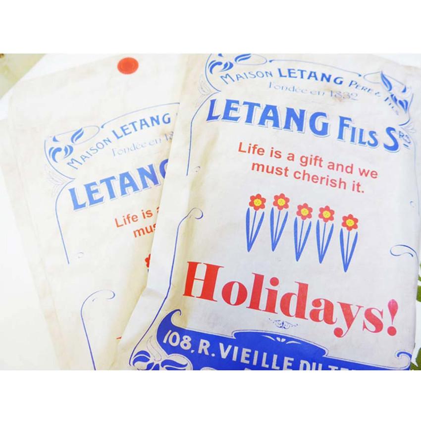 Vintage blue holiday gift bag envelope