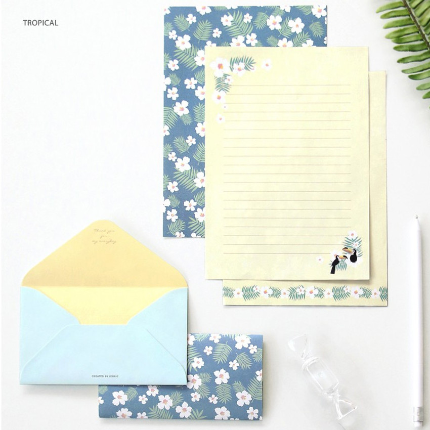 Tropical - Pattern letter paper and envelope set for you