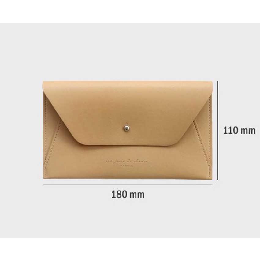 Size of Daily envelope style slim wallet