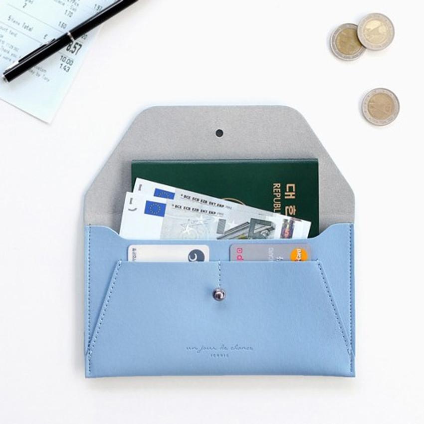 Serenity blue - Daily envelope style slim wallet