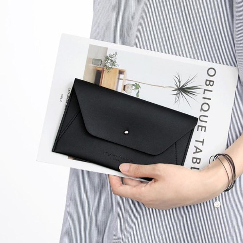 Daily envelope style slim wallet