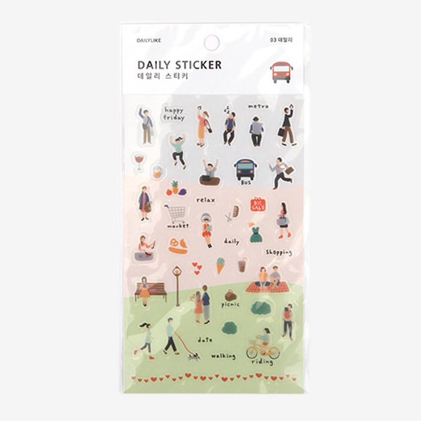 Daily transparent sticker - Daily