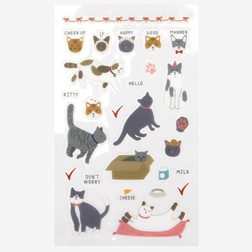 Daily transparent sticker - Kitty