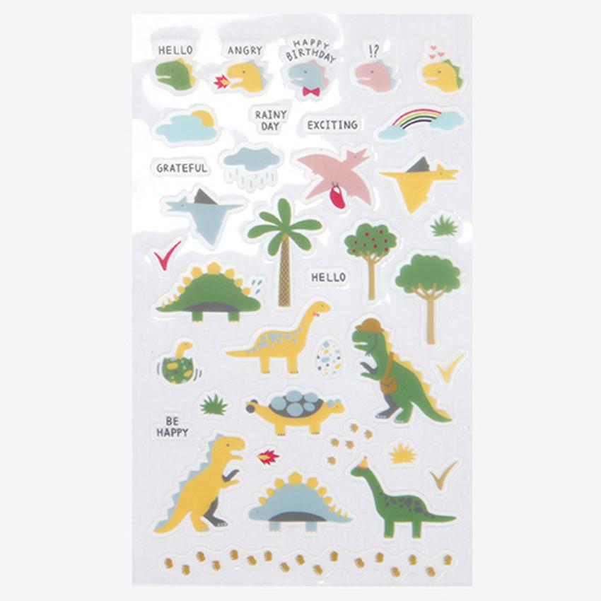 Daily transparent sticker - Dinosaur