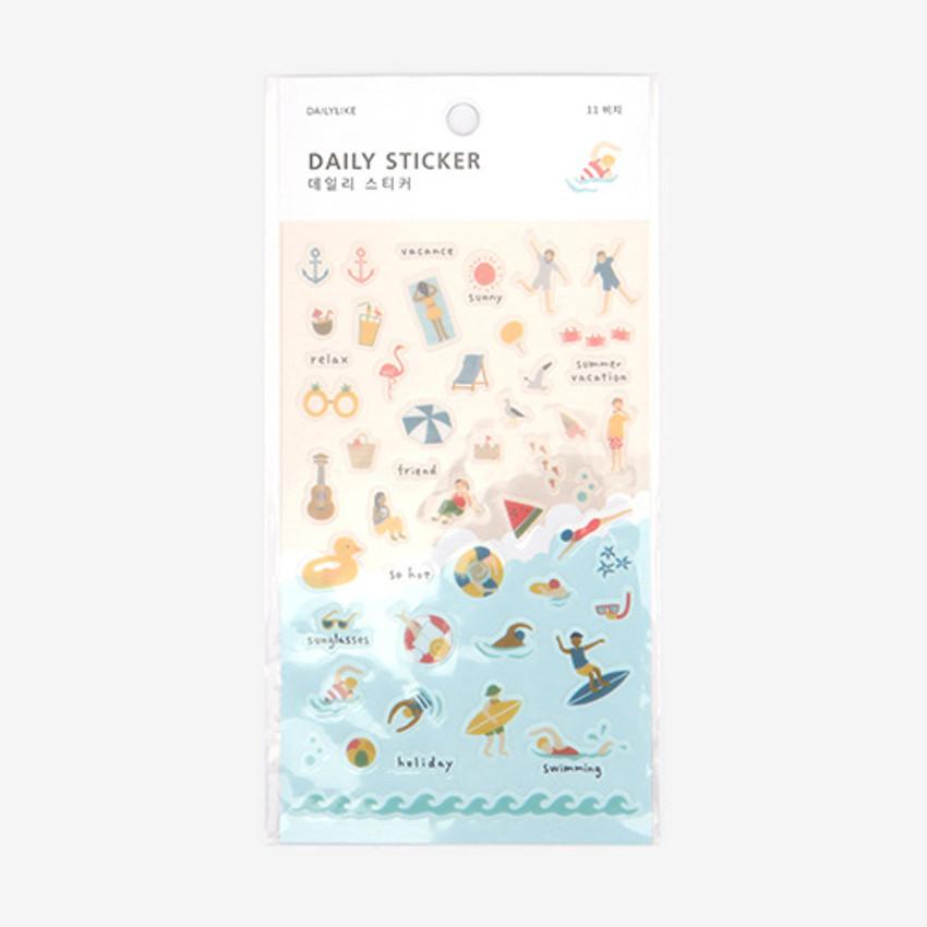 Daily transparent sticker - Beach