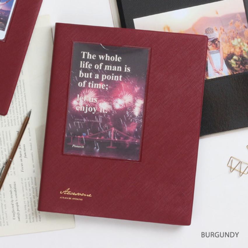 Burgundy - Awesome self adhesive photo album