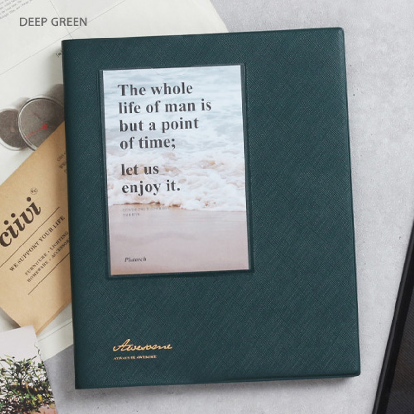 Deep green - Awesome self adhesive photo album