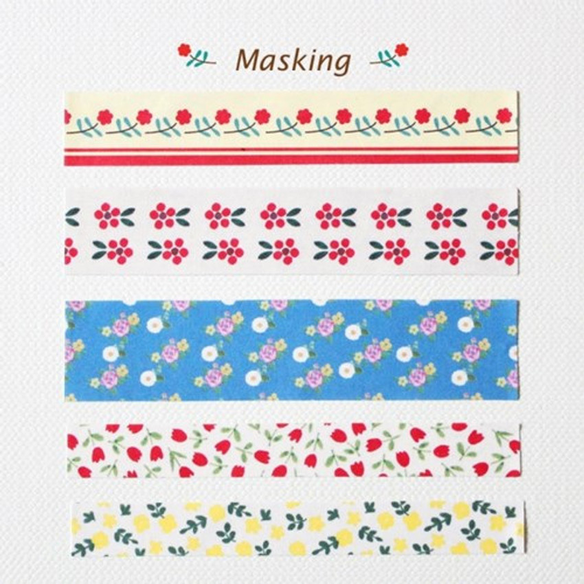 Masking tape deco paper sticker