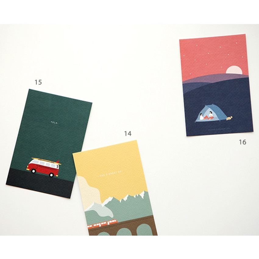 14, 15, 16 - Simple and cute illustration card