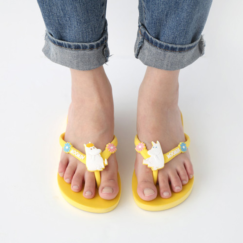 Yellow - Moomin women's flip flop