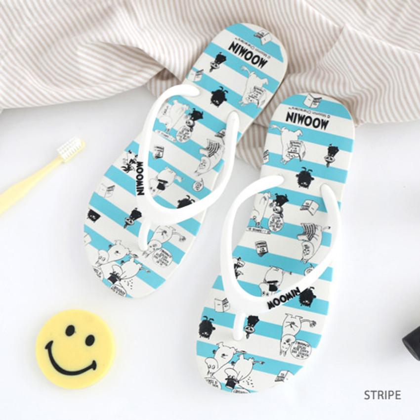 Stripe - Moomin women's flip flop