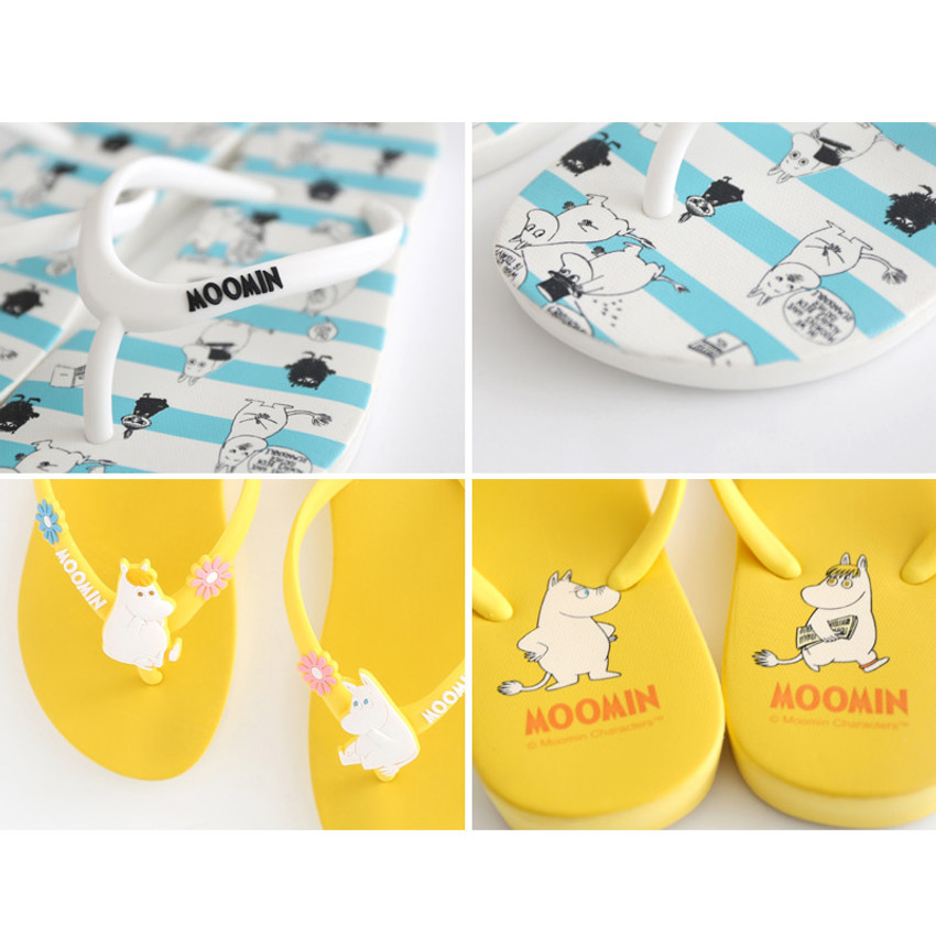 Detail of Moomin women's flip flop