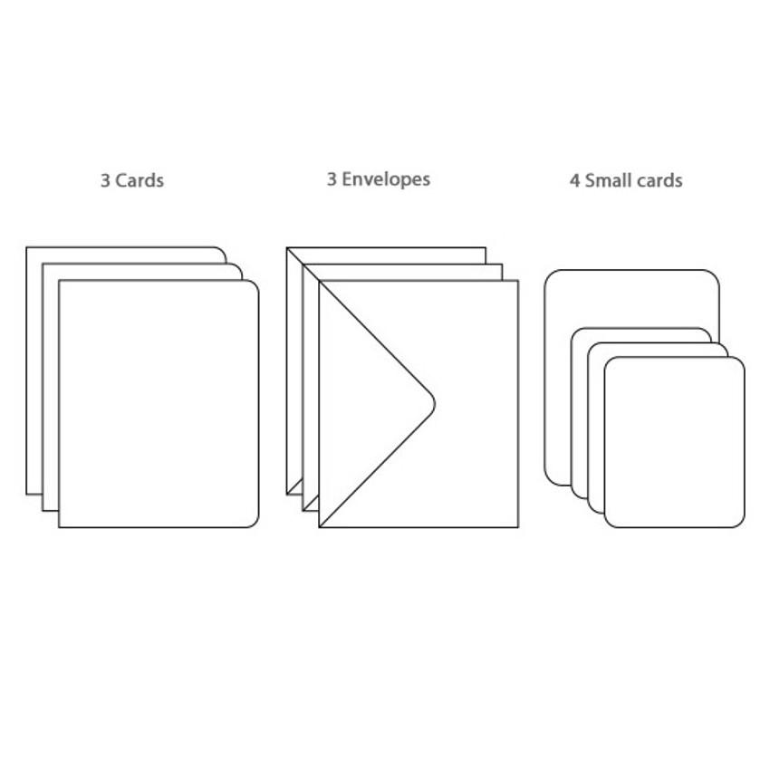 Composition of Flower illustration card set ver.4