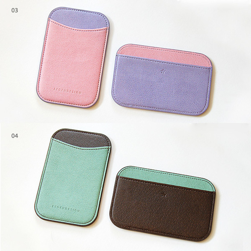 03, 04 - Simple two tone flat card holder