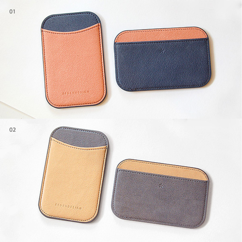 01, 02 - Simple two tone flat card holder