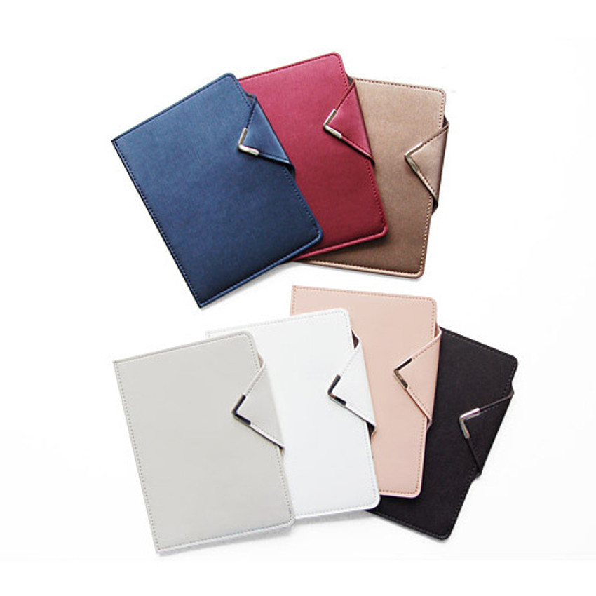 Simple passport holder with magnetic snap closure