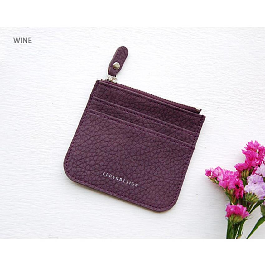 Wine - Simple flat pocket card case holder