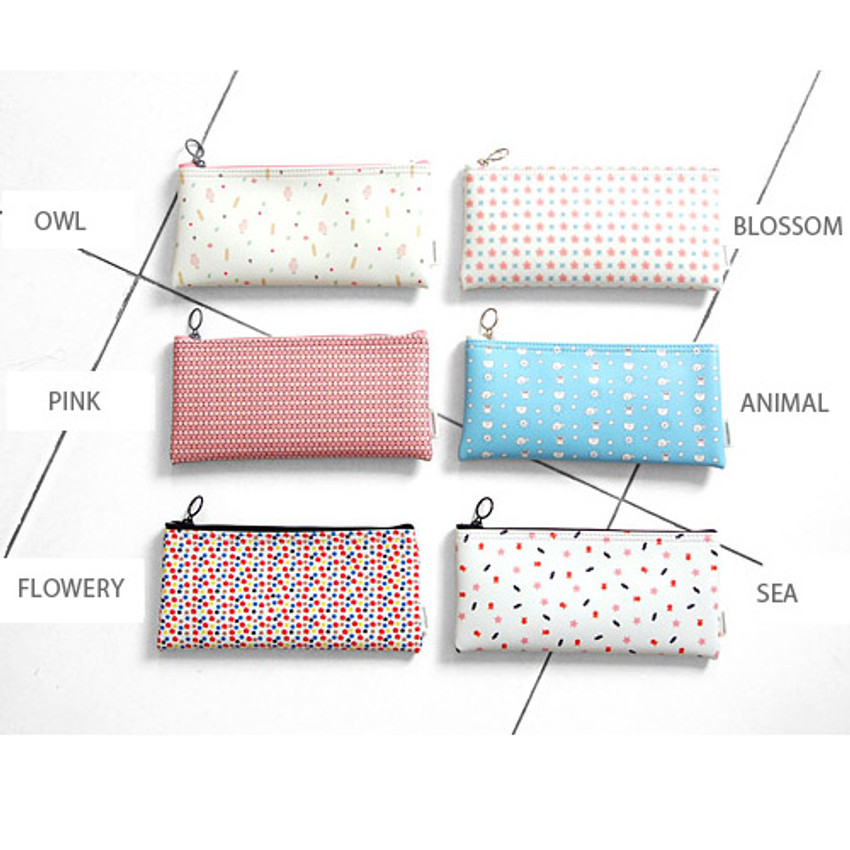 Patterns of Pattern zipper slim pencil case