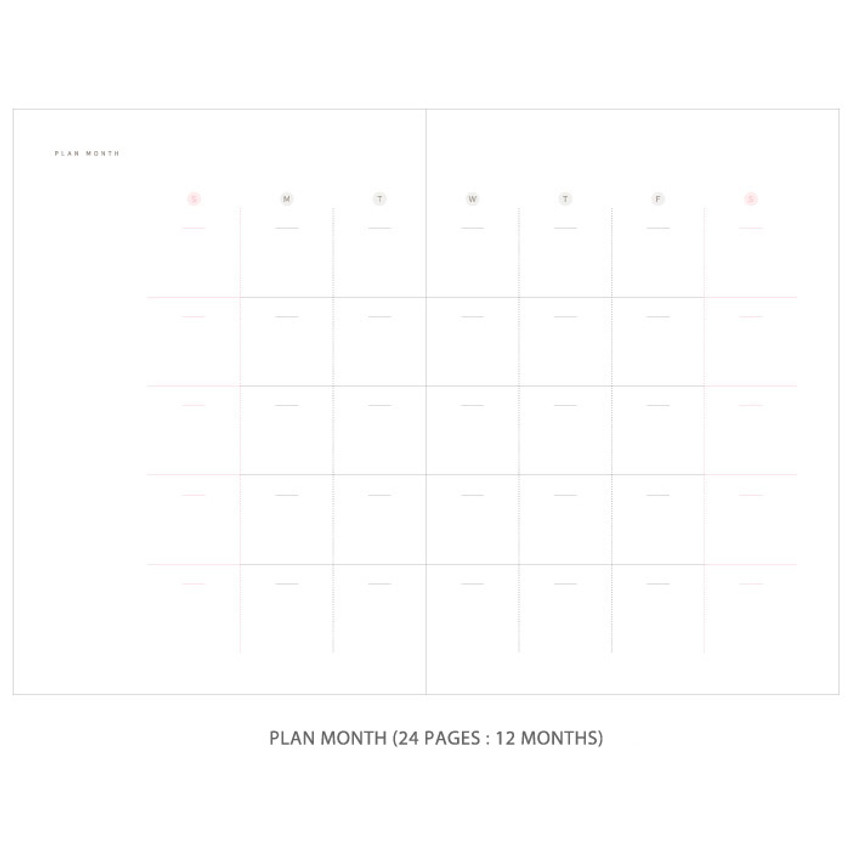 Plan month - Gradation undated weekly planner scheduler